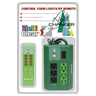 Light Changer Remote Controlled Outlet Box - For Clear and Multi-Color Christmas Tree Lights - Barcana