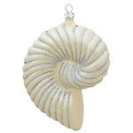 Nautilus Shell Christmas Ornament - Shatterproof - 5 in. - Ivory - 2 Pack