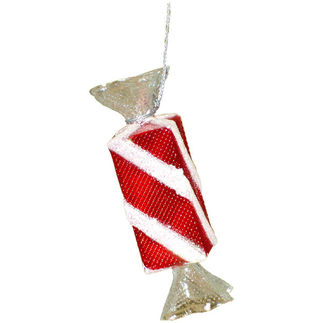Peppermint Candy Christmas Ornament - Shatterproof - 4 in. - Red and White - 6 Pack