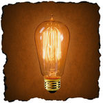 Antique Light Bulb Co. 134019 - 40 Watt - 1910 Edison Style - Clear - 3,000 Life Hours - 120 Lumens - 120 Volt