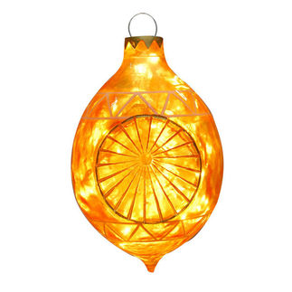 Illuminated - Christmas Sandstone Reflector Decoration - 22 in. - Gold - Fiberglass