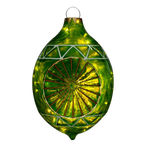 Illuminated - Christmas Sandstone Reflector Decoration - 22 in. - Green