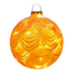 Illuminated - Christmas Sandstone Drape Ball - 16.5 in. - Gold