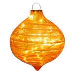 Illuminated - Christmas Striped Sandstone Drop Decoration - Gold - 14 in.