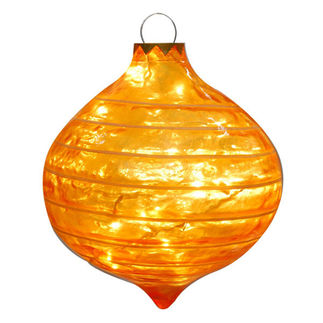 Illuminated - Christmas Striped Sandstone Drop Decoration - 22 in. - Gold