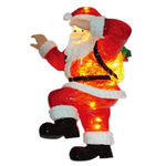 Illuminated - Christmas Climbing Santa Decoration - 25 in.