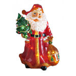 Illuminated - Christmas Santa with Toy Sack Decoration - 36.5 in.