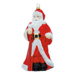 Traditional Santa Christmas Ornament - Shatterproof - 7 in. - Red