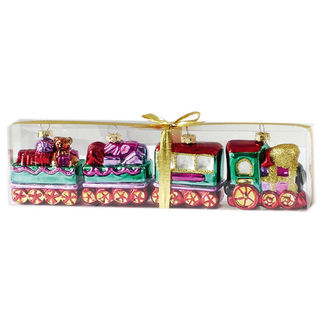 Train Set Christmas Ornament - Shatterproof - 3 in. - Multi-Color