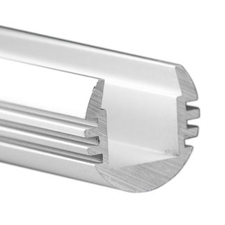 Klus B3777L - 78.75 in. Anodized Aluminum Mounting Channel - PDS - O LED Profile - For LED Tape Light