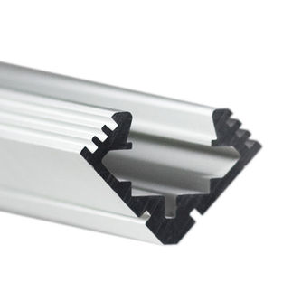 Klus B4023ANODAL - 78.75 in. Anodized Aluminum Mounting Channel - 45 - ALU LED Profile - For LED Tape Light