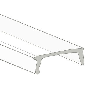 Klus 1548 - 39.4 in. Clear Mounting Channel Lens - K Cover - For LED Tape Light