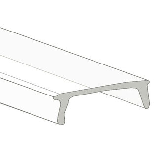 Klus 00156L - 78.75 in. Clear Mounting Channel Lens - K12 Cover - For LED Tape Light