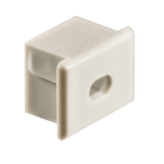 Klus 1057 - End Cap with Hole for Mounting Channel - PDS4 - ALU LED Profile - For LED Tape Light