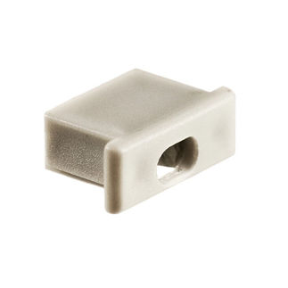 Klus 1060 - End Cap with Hole for Mounting Channel - Micro - ALU LED Profile - For LED Tape Light