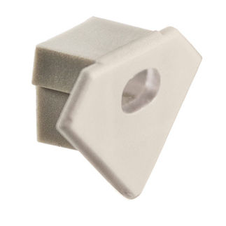 Klus 1440 - End Cap with Hole for Mounting Channel - 45 - ALU LED Profile - For LED Tape Light
