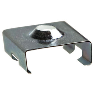 Klus 1455 - Chrome Bracket for Mounting Channel - 45 - ALU LED Profile - For LED Tape Light