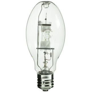 Plusrite 1589 - 400 Watt - ED28 - Pulse Start - Metal Halide - Unprotected Arc Tube - 4200K - Mogul Base - ANSI M135/M155/E - Universal Burn