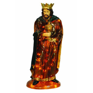 Illuminated - Christmas Nativity Wise Man Gaspar - 32 in. - Barcana 57-1083-KG