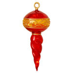 Illuminated - 26 in. Christmas Finial - Red and Gold