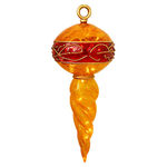 Illuminated - 35 in. Christmas Finial - Gold and Red