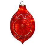 Illuminated - Christmas Sandstone Reflector Decoration - 22 in. - Red