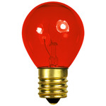 10 Watt - S11 - Transparent Orange - 130 Volt - Intermediate Base - Party Light Bulb - Bulbrite 702510