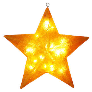Illuminated - Christmas Star Decoration - 28 in. - Gold