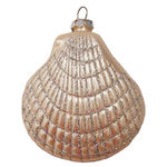 Clam Shell Christmas Ornament - Shatterproof - 3.5 in. - Ivory Pearl - 4 Pack