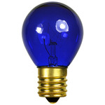10 Watt - S11 - Transparent Blue - 130 Volt - Intermediate Base - Party Light Bulb - Bulbrite 702310