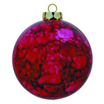 Marble Ball Christmas Ornament - Shatterproof - 3.15 in. - Red - 4 Pack