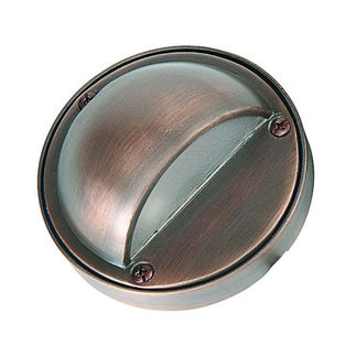 4 Watt - LED - Eyebrow Step and Deck Light - Solid Brass - Bronze Finish - 20 Watt Halogen Equal - 3000K - 12 Volt - PLT SD-406B-LED-T3-4