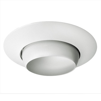 6 in. - White Eyeball Trim - Premium Quality Brand PT28 - Light Fixture Accessory