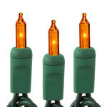 Bulbs - Amber Mini Lights - Green wire