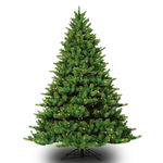 7.5 ft. Artificial Christmas Tree - Pre-Lit Appalachian Deluxe Fir - Realistic PE/PVC Needles - Barcana