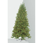 7 ft. Artificial Christmas Tree - In Corner Quarter Tree - Pre-Lit with Clear Mini Lights - Barcana
