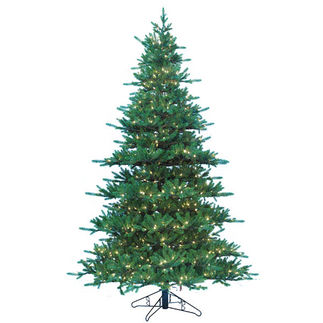 9 ft. Artificial Christmas Tree - Pre-Lit Jaxson Fir - Realistic PE/PVC Needles - Barcana