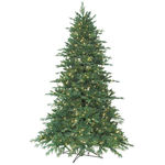 7.5 ft. Artificial Christmas Tree - Pre-Lit Redford Blue Spruce Fir - Realistic PE/PVC Tips - Barcana