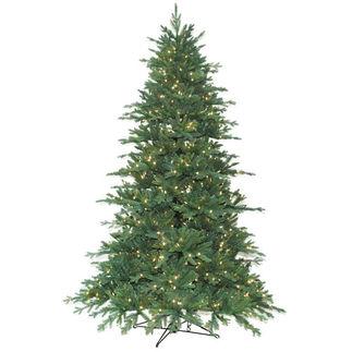 9 ft. Artificial Christmas Tree - Pre-Lit Redford Blue Spruce Fir - Realistic PE/PVC Needles - Barcana