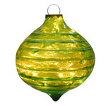 Illuminated - Christmas Striped Sandstone Drop Decoration - Green - 14 in.