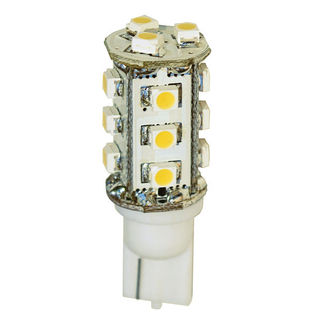 2 Watt - LED - T3 Wedge - 3000K Warm White - 20 Watt Equal - PLT LED-WDG-2-12