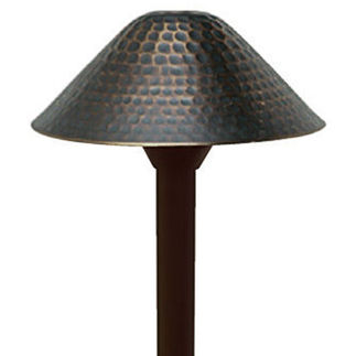 4W T3 LED - Hammered - Bronze Finish - Frosted Lens