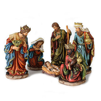 6-Piece Nativity Scene Set - 9 in. Polyresin Figurines
