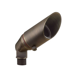 2 Watt - LED - Little Smoky Accent Bullet Light - Solid Brass - Bronze Finish - 20 Watt Halogen Equal - 3000K - 12 Volt - PLT FL-104B-LED-MR11-2