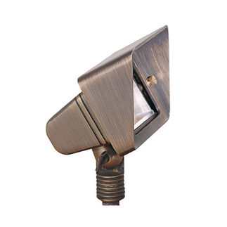 5.5 Watt - LED - Cohiba Wall Wash Landscape Light - Solid Brass - Bronze Finish - 20 Watt Halogen Equal - 3000K - 9-15 Volt - PLT FL-115B-MR16-LED-7