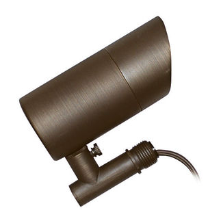 7 Watt - LED - Specifier Accent Landscape Light - Solid Brass - Bronze Finish - 20 Watt Halogen Equal - 3000K - 12 Volt - PLT FL-501B-LED-MR16-7