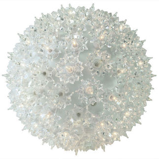 150 Bulbs - Clear Twinkling - Starlight Sphere - 120 Volt - 10 in. Diameter - Green Wire