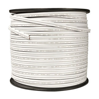 White - Commercial Christmas Wire - 18 AWG - SPT-2 Rated - 500 ft.