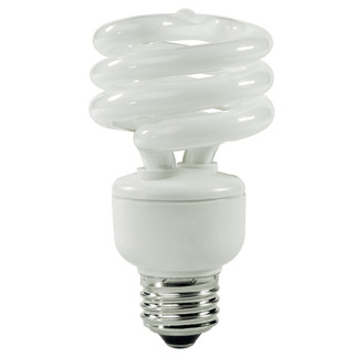 14 Watt - CFL - 60 W Equal - 4100K Cool White - Min. Start Temp. -20 Deg. F - 82 CRI - 57 Lumens per Watt - 15 Month Warranty - TCP 801014-41 Screw In CFL