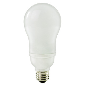 16 Watt - A-Shape CFL - 60 W Equal - 2700K Warm White - Min. Start Temp. -20 Deg. F - 82 CRI - 56 Lumens per Watt - 15 Month Warranty - TCP 11316-27 Screw In CFL